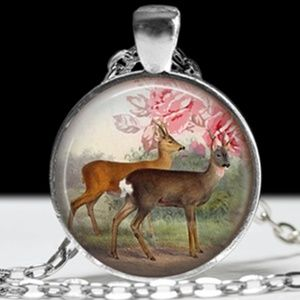 Jewelry - Necklace- NEW- Deer in the Woods